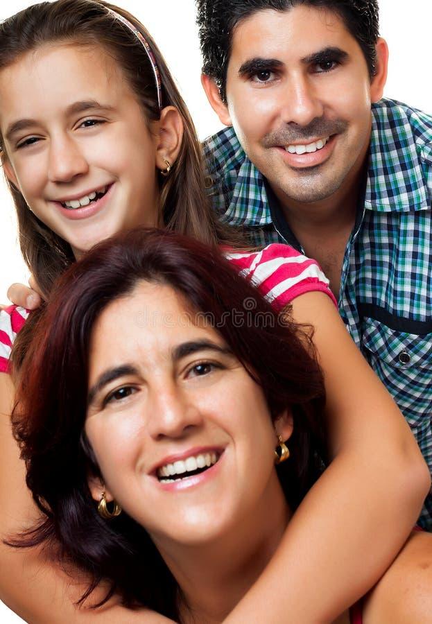Download Portrait Of A Happy Hispanic Family Stock Image - Image: 25464787