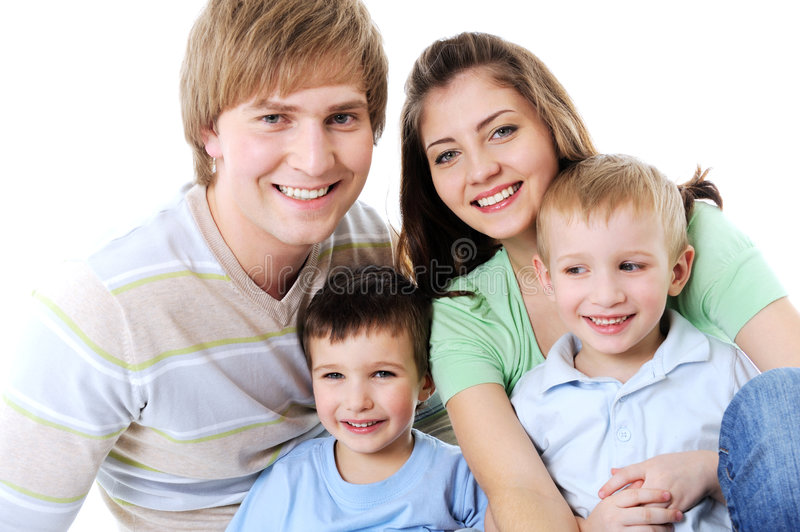 Download Portrait Of Happy Laughing Young Family Stock Photos - Image: 9123673