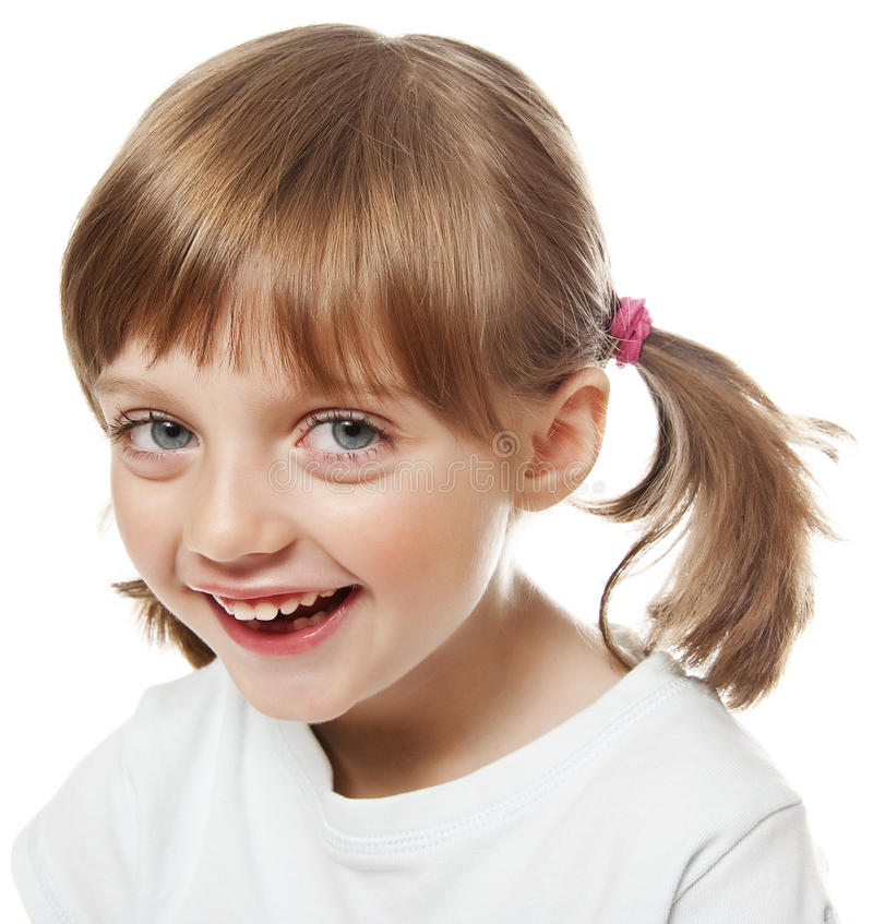 Download Portrait Of A Happy Little Girl Stock Image - Image: 27553605