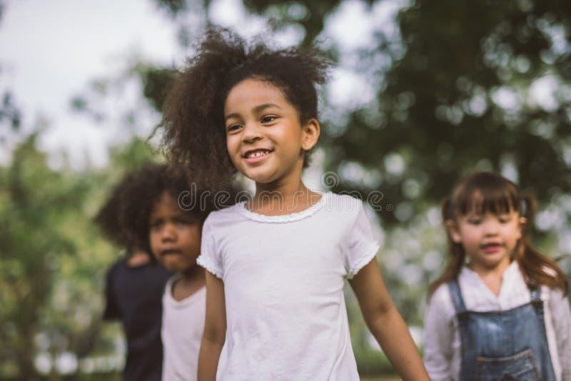 Portrait happy little girl stock images