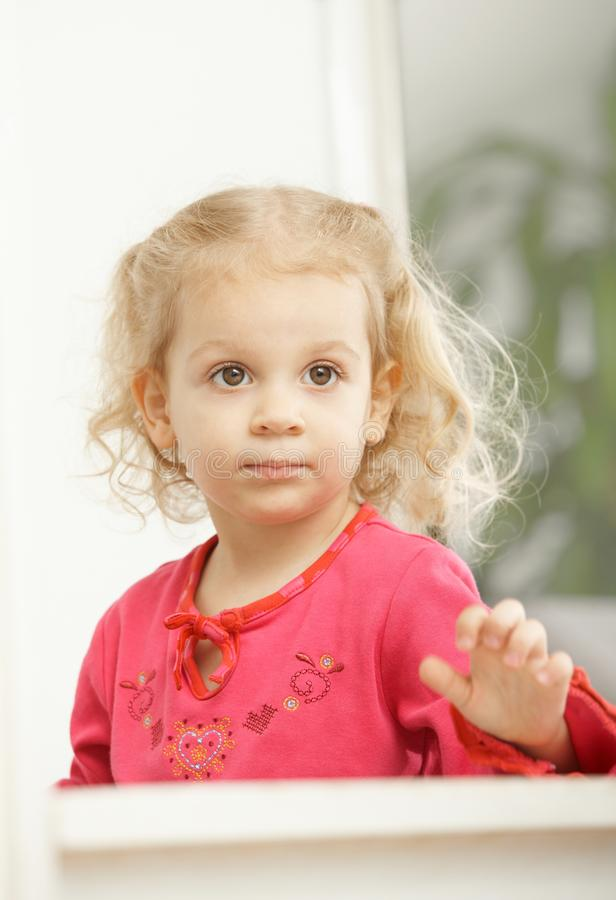 Download Portrait Of Happy Little Girl Smiling Stock Photo - Image of alone, having: 13124742