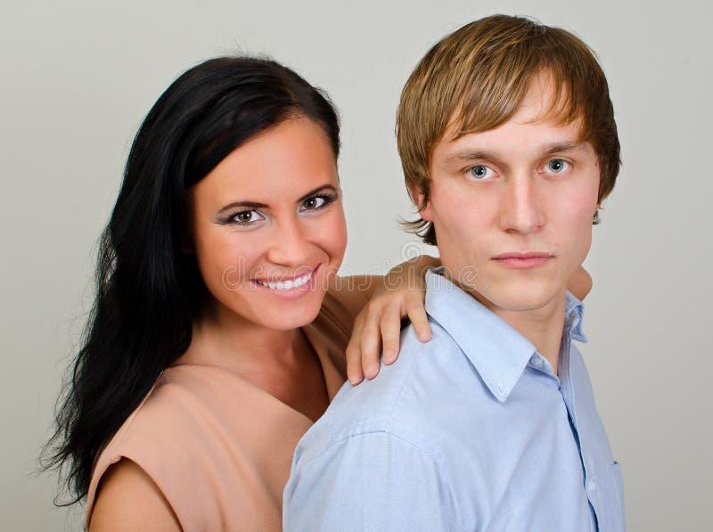 Portrait of happy loving couple stock photo