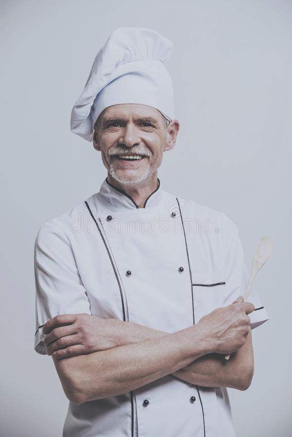 Portrait of Happy Chef Cook. royalty free stock photography