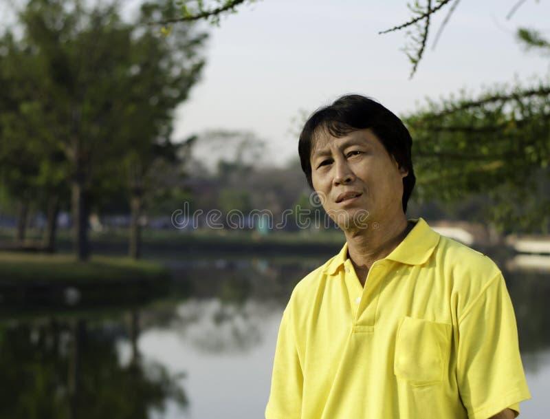 Portrait of a happy man thailand park