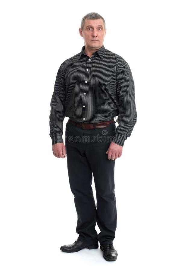 Portrait of a happy mature man stock image