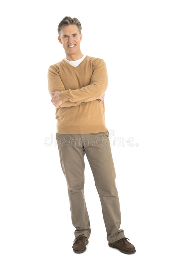 Download Portrait Of Happy Mature Man Standing Arms Crossed Stock Photo - Image of camera, lifestyles: 32062010