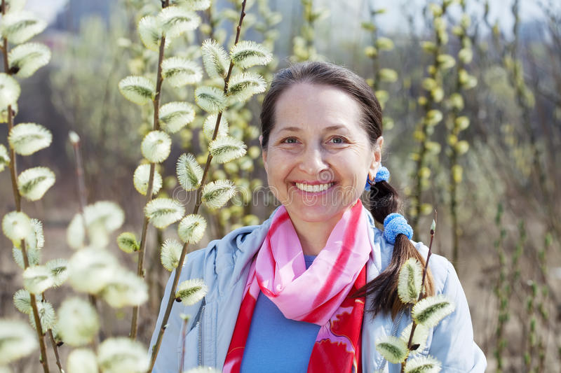 Portrait of happy mature woman royalty free stock images
