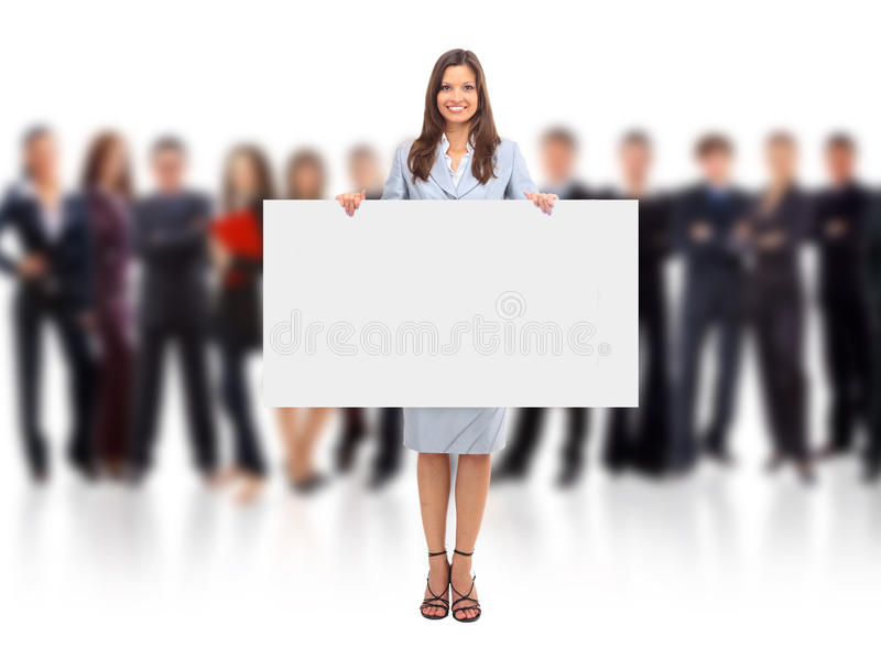 Portrait of happy men and women stock image