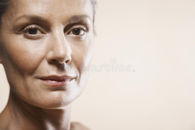 Portrait Of Happy Middle Aged Woman royalty free stock image