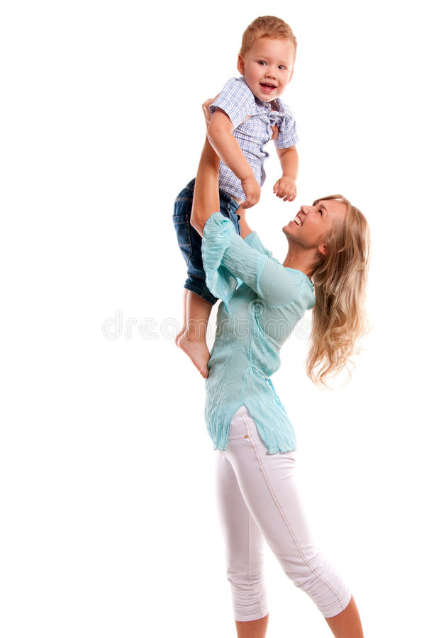Download Portrait Of Happy Mother With Joyful Son Stock Photo - Image: 15837702
