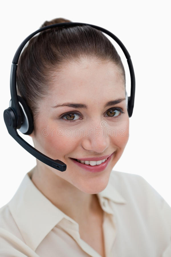 Download Portrait Of A Happy Operator Posing With A Headset Stock Photo - Image: 22693160
