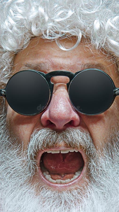 Portrait of happy Santa Claus. Christmas celebration concept. royalty free stock photo