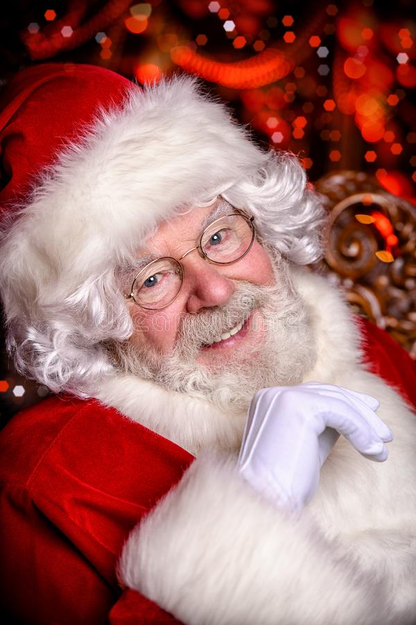 Portrait of happy santa stock photography
