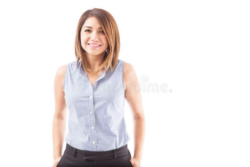 Portrait of a happy school teacher royalty free stock image