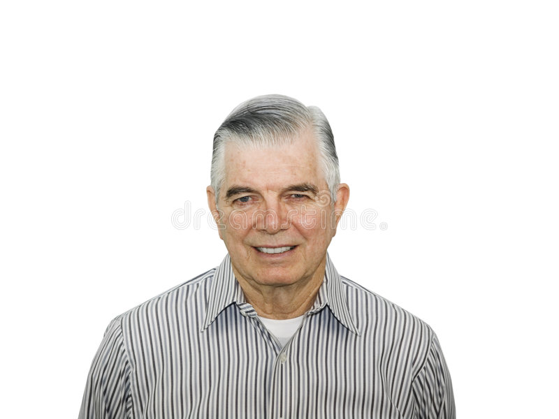 Portrait of happy senior stock images