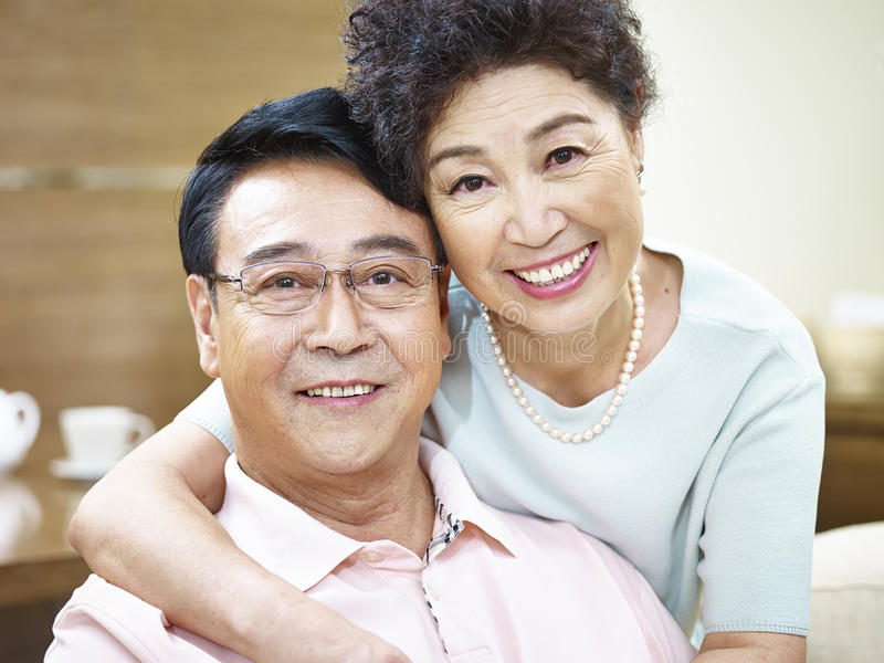 Portrait of a happy senior couple royalty free stock photography