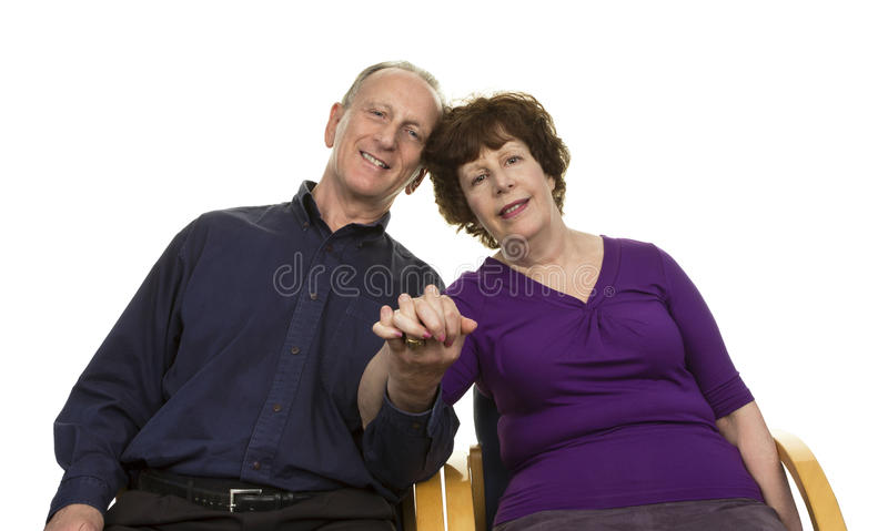 Portrait Of Happy Senior Couple royalty free stock images