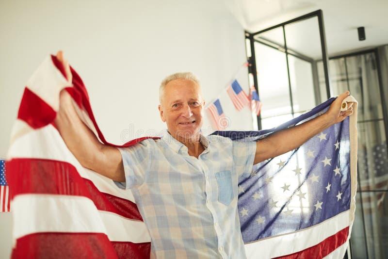 Senior American Patriot royalty free stock photography