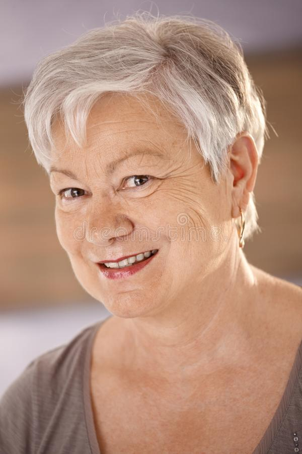 Download Portrait Of Happy Senior Woman Stock Image - Image: 18216335