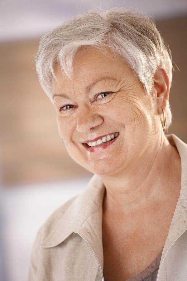 Download Portrait Of Happy Senior Woman Stock Image - Image: 23242421