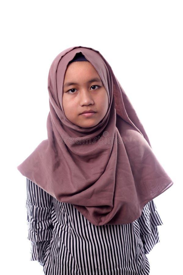 Happy Muslim Girl stock images