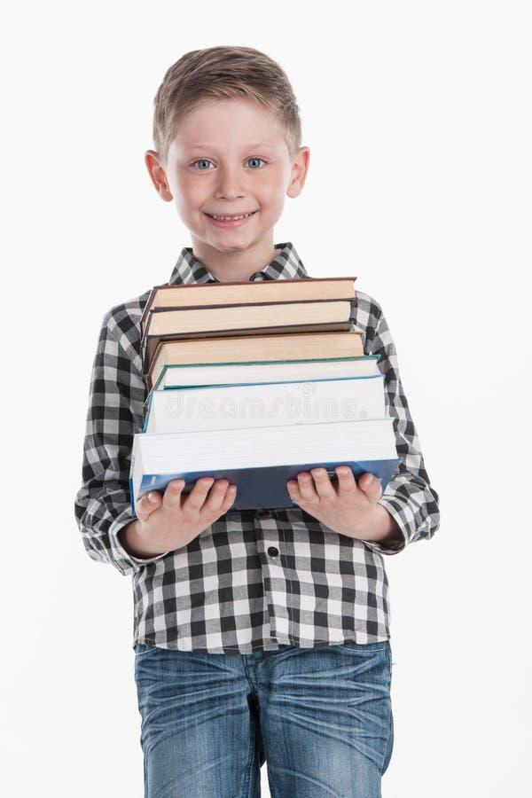 Portrait of happy smiling school boy. stock images