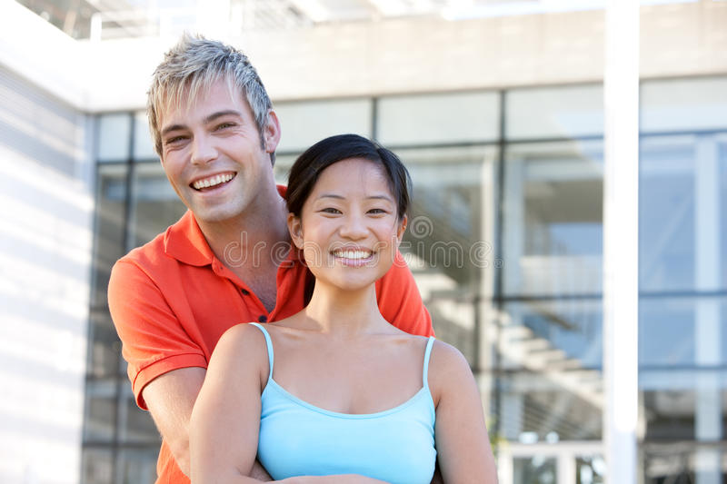 Portrait of happy students royalty free stock images