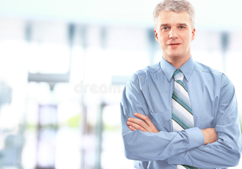 Portrait of a happy successful royalty free stock image