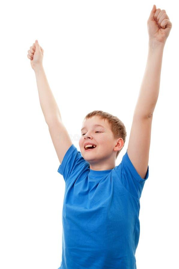 Download Portrait happy teenage boy stock photo. Image of gesturing - 30255644