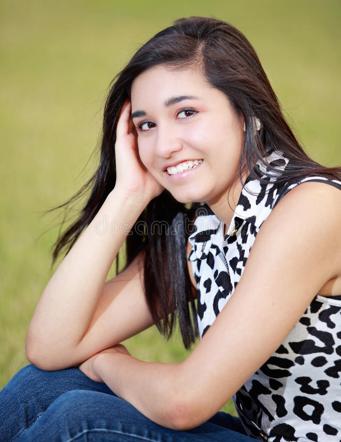 Portrait of a Happy Teenage Girl royalty free stock photos