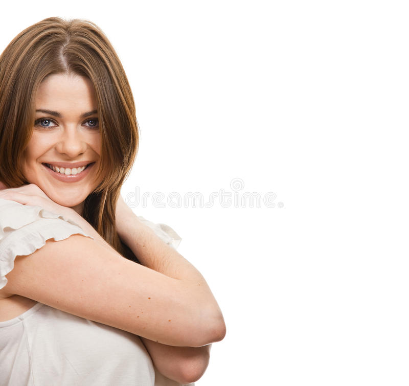 Download Portrait of happy  woman stock image. Image of beautiful - 23069447