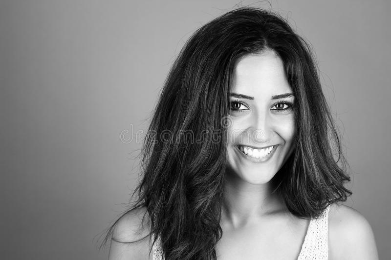 Portrait of a happy woman royalty free stock photos