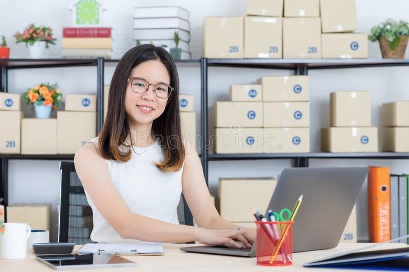 Asian business lady at office stock image