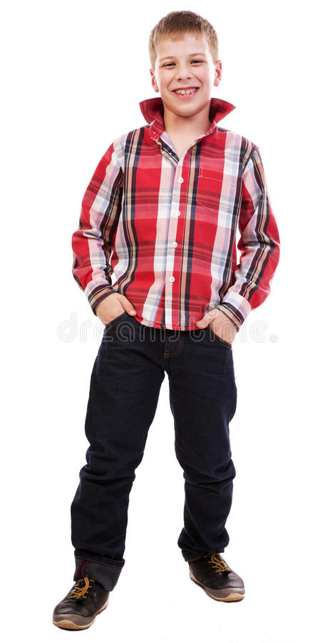 Portrait Of A Happy Young Boy Stock Image