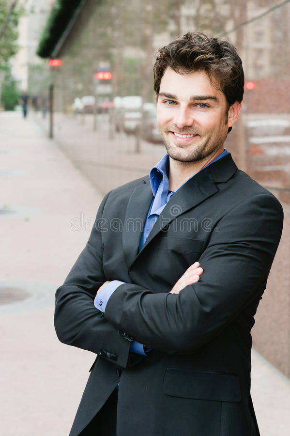 Portrait of a happy young businessman royalty free stock images