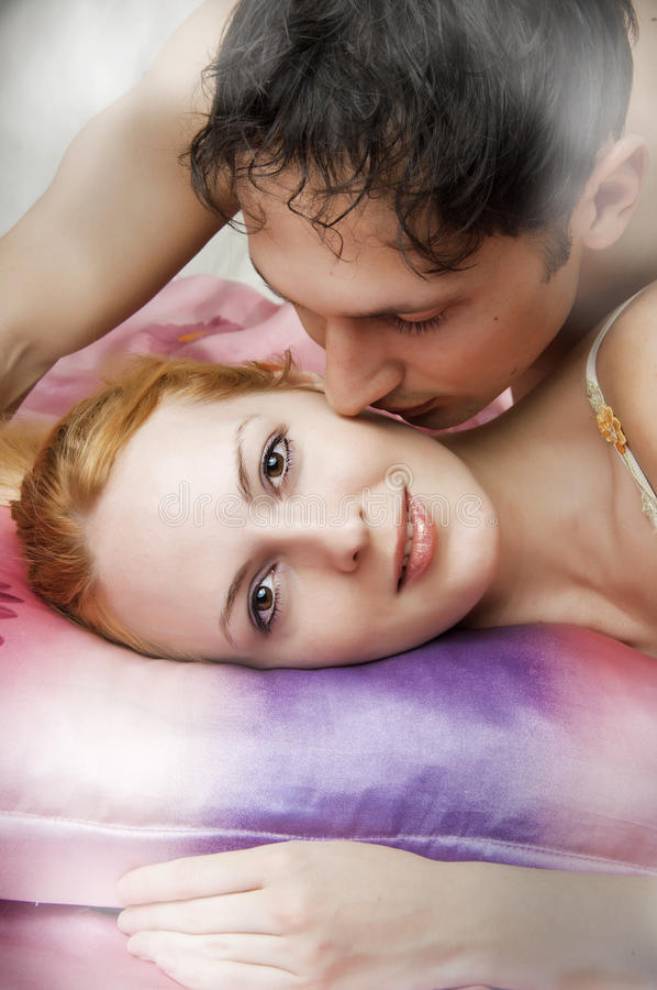Portrait of a happy young couple in love royalty free stock photo