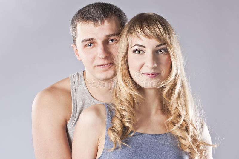 Download Portrait Of A Happy Young Couple. Studio Stock Image - Image: 25624789