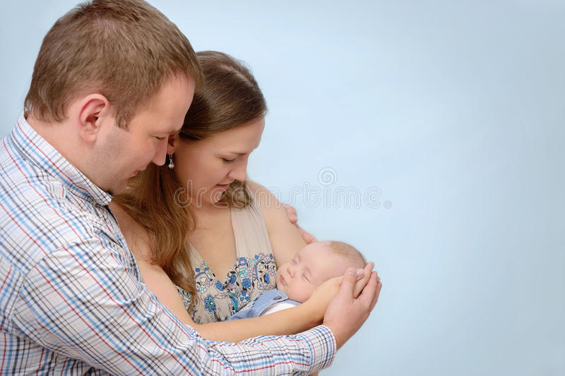 Portrait of happy young family royalty free stock photography