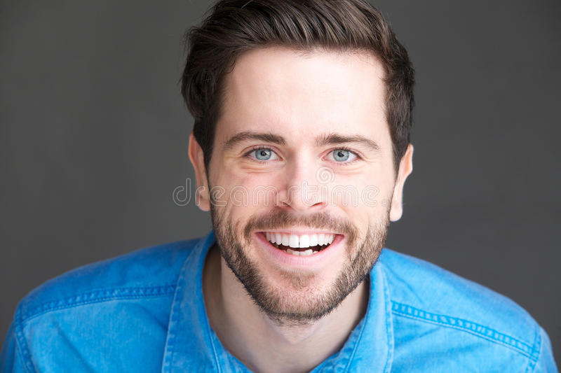 Download Portrait Of A Happy Young Man Laughing Stock Photo - Image: 33838776