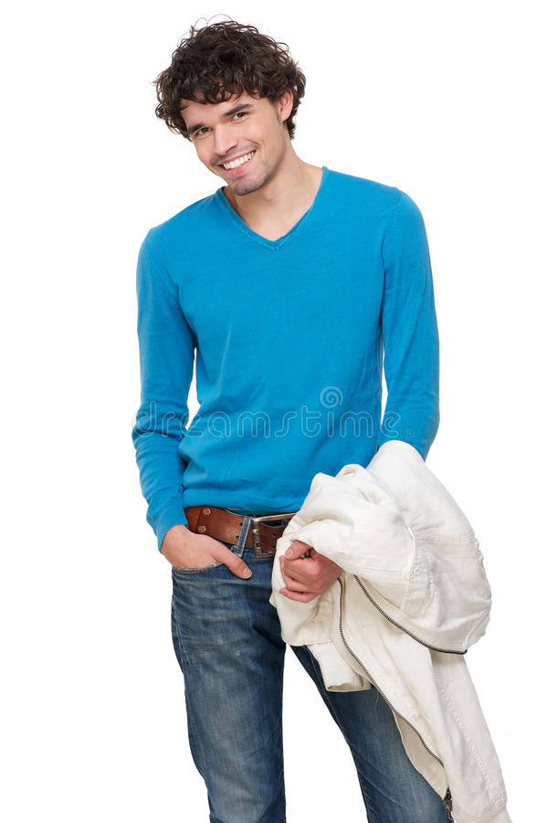 Happy Young Man Smiling stock image
