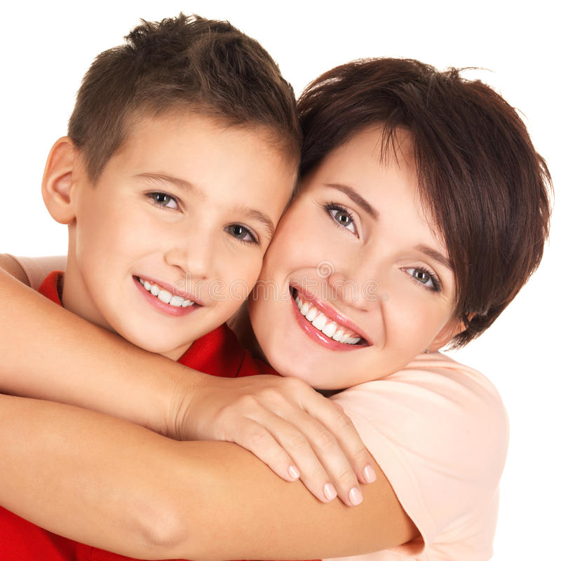 Download Portrait Of A Happy Young Mother With Son Stock Image - Image of backround, year: 27903713