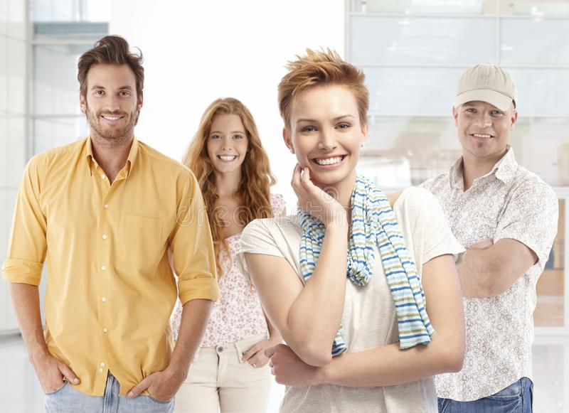 Portrait of happy young people royalty free stock photo