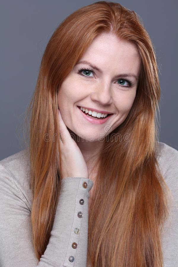 Download Portrait Of A Happy Young Woman Stock Image - Image: 22163697
