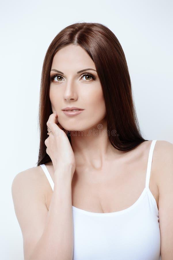 Girl with beautiful hair stock photo