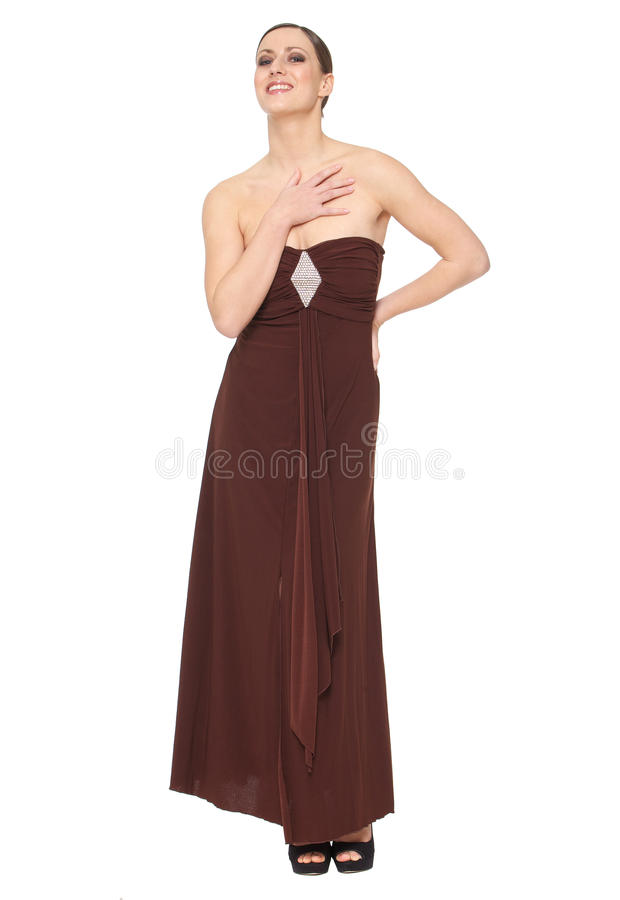 Download Portrait Of A Happy Young Woman In Elegant Dress Stock Image - Image: 33413553