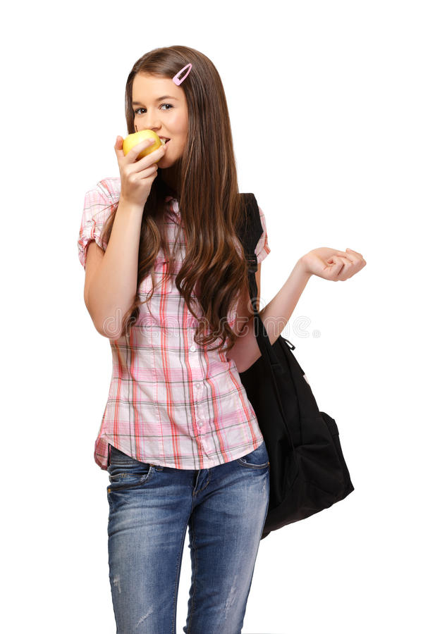Portrait of a healthy student stock photography