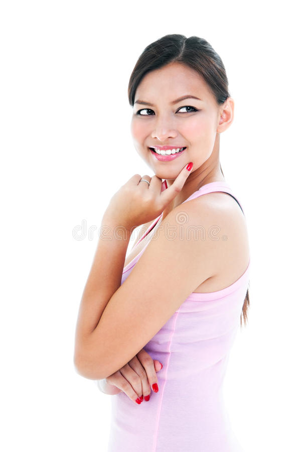 Healthy Young Woman Smiling Royalty Free Stock Photo