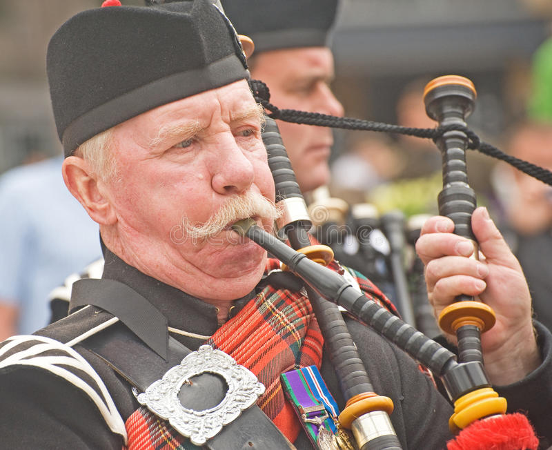 A portrait of a Highland Piper. royalty free stock photos