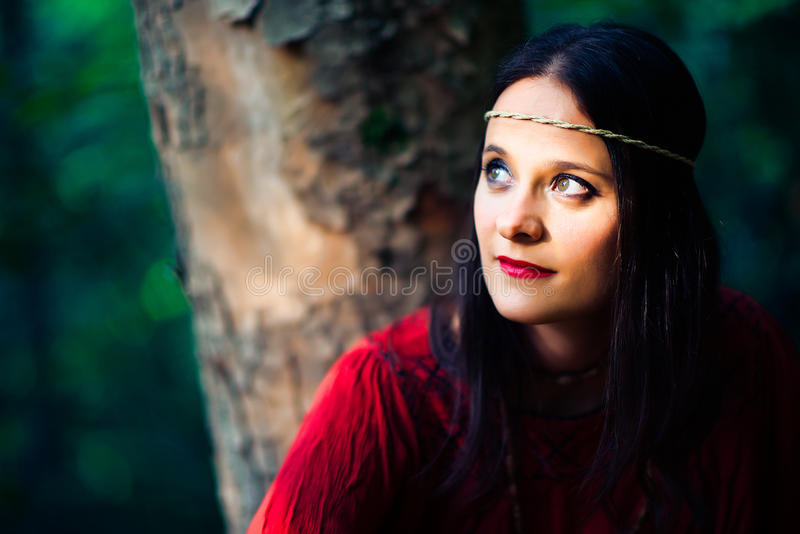 Portrait of hippie girl royalty free stock image