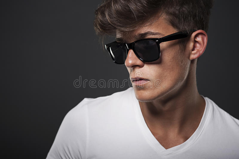 Portrait of a hipster royalty free stock photo